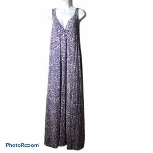 CAbi Cheetah Purple Maxi Dress